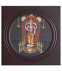 Lord Guruvayur - Framed Wall Hanging Picture
