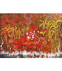 Hanuman in Ashok Van
