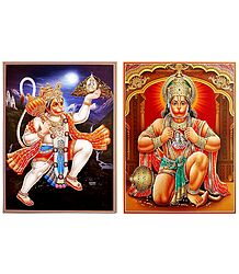 Hanuman- Set of 2 Glitter Posters