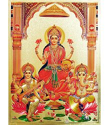 Hindu Deities - Metallic Poster