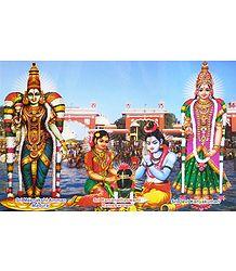 Deities of Madurai, Rameswaram and Kanyakumari