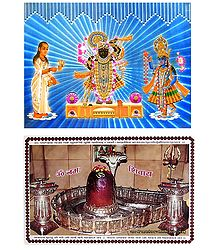 Sreenathji, Krishna, Sudama and Mahakaleshwar - Set of 2 Posters