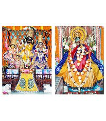 Radha Krishna, Nimai and Narasimha with Lakshmi - Set 2 Photo Prints