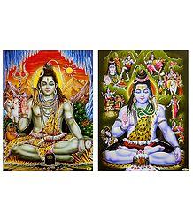 Lord Shiva - Unframed 2 Glitter Poster