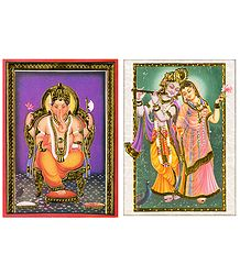 Ganesha and Radha Krishna - Set of 2 Posters