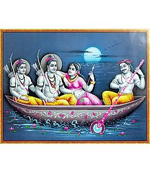 Kewat Ferries Rama, Sita and Lakshmana Across the River Vaitarani