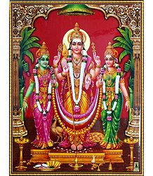Lord Murugan, Valli and Devyani