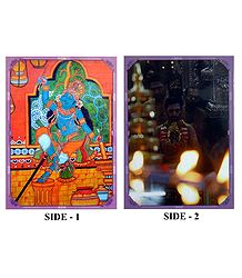 Krishna and Hindu Festival - Double Sided Laminated Poster