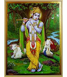 Nature Lover Krishna - Poster