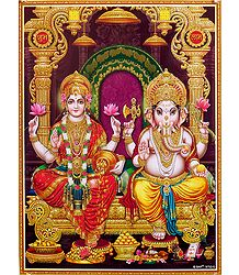 Glitter Picture of Hindu Deities - Shop Online