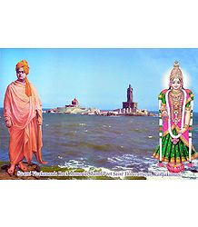 Swamy Vivekananda and Kanyakumari - Laminated Poster