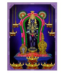 Lord Krishna - Double Sided Laminated Poster