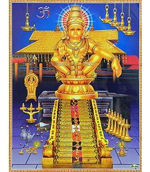 Lord Ayyappan Picture - Plastic Laminated