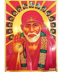 Shirdi Sai Baba - Golden Metallic Poster