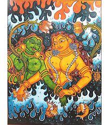 Two Mermaids - Mural Poster
