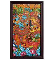 Radha Krishna Framed Picture