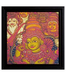 Devi Lakshmi Framed Picture