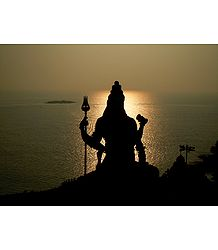 Sun Set  in Murdeshwar - Photographic Print