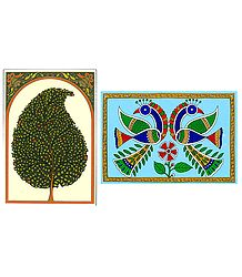 Tree and Peacocks  - 2 Unframed Posters