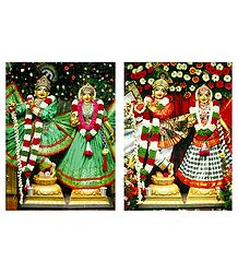 Radha Krishna - Set of 2 Photo Prints