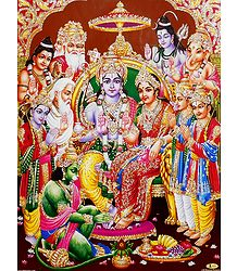 Ram Darbar - Unframed Glitter Poster