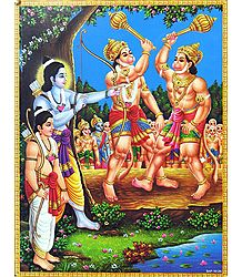 Rama Helps helps Sugreeva to Defeat Bali - Poster