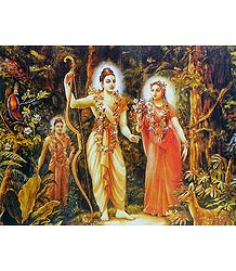 Exile of Rama, Sita and Lakshmana in Jungle