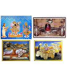 Hindu Deities - Set of 4 Posters