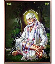 Shirdi Sai Baba - Poster with Glitter