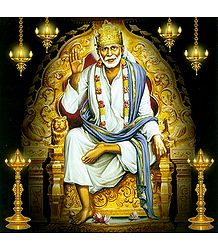 Shirdi Sai Baba Sitting on Throne