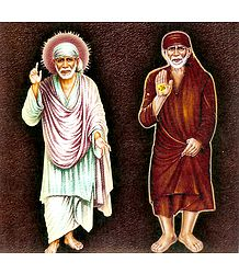 Shirdi Sai Baba in White and Red Robe
