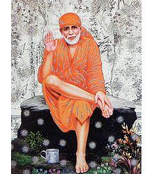 Shirdi Sai Baba - Glitter Poster