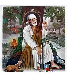 Buy Shirdi Sai Baba Poster on Synthetic Sheet