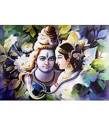 Shiva Parvati - Unframed Poster