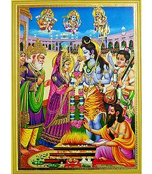 Marriage of Shiva and Parvati - Unframed Poster