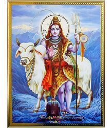 Shiva with His Bull