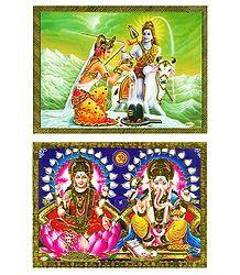 Shiva Parvati and Lakshmi, Saraswati - Posters