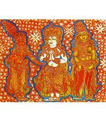 Krishna, Balaram and Rukmini - Poster