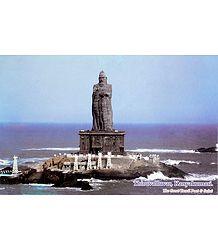 Thiruvalluvar Statue, Kanyakumari - Laminated Picture