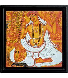 Saint Tyagaraja Picture on Laminated Board