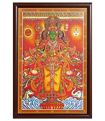 Lord Vishnu (Print on Laminated Board)