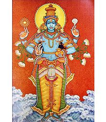 Mahavishnu - Reprint of Temple Mural