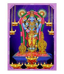 Vishnu and Ganesha - Double Sided Laminated Poster