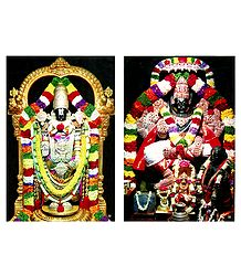 Vishnu and Narasimha Avatar - Set of 2 Photo Prints