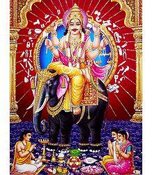 Vishwakarma - The Divine Architect - Glitter Poster