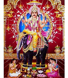 Vishwakarma - Architect of the Heaven - Glitter Poster