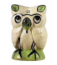 Ceramic Owl Incense Burner with 3 Holes