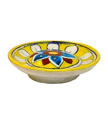 Ceramic Plate Incense Stick Holder with 6 Holes