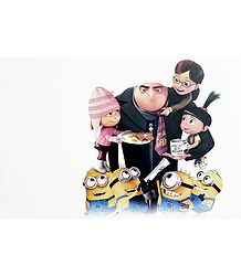 Gru and Minions from Despicable Me - Poster
