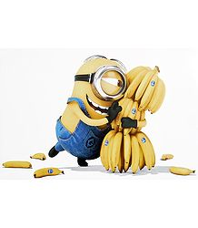 Minion with Bananas - Poster